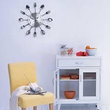 Kitchen Utensil Design by Modern Design Wall Clocks Sliver Cutlery Kitchen Utensil Wall