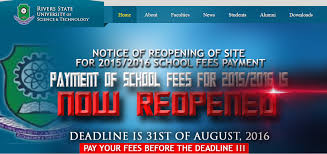 update rsust re opens 2015 2016 school fees payment portal