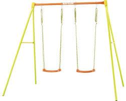 si e balancoire balançoire kettler 2 métal vert jaune orange acheter sur