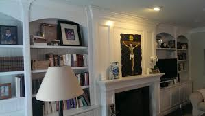 trend decoration built in enclosed bookshelves for and by