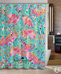 new flamingos cute pattern kate spade shower curtain cheap and