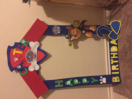 diy party frame paw patrol paw patrol diy party art party