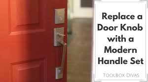 Exterior Door Knob Replacement by How To Replace A Door Knob For A Handle Set Youtube