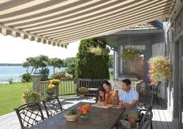 Awning Colors Sunsetter Motorized Retractable Awnings In La By Galaxy Draperies