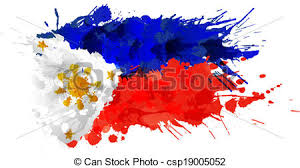 flag of philippines made of colorful splashes clipart vector