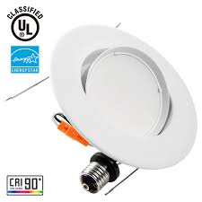 warm led recessed lights 10w 5 6inch directional retrofit led recessed light torchstar