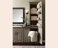 Bathroom Cabinet With Laundry Bin by Linen Closet With Removable Hamper Tall Bathroom Cabinet With