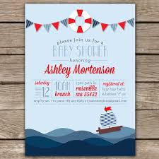 nautical shower ii custom digital baby shower invitation