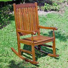 Patio Rocking Chairs Wood Shop International Caravan Patio Rocking Chair At Lowes