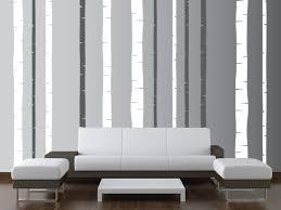 birch tree living room forest decal 2 color set vinyl 1197