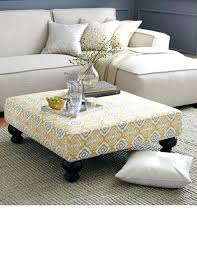 tufted fabric ottoman coffee table round linen tufted cocktail