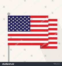 Design Of American Flag American Flag Flat Design Stock Vektorgrafik 375823459 Shutterstock