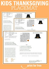 thanksgiving placemats free printable frugal fanatic
