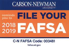 apply for financial aid carson newman