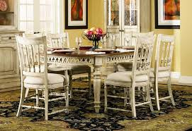 hooker dining room table 7 piece oval leg dining table with spindle back chairs in two tone