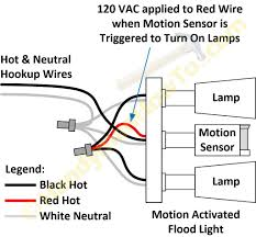 how to wire a motion sensor to multiple lights wiring motion light sensor to flood lights diagram multiple