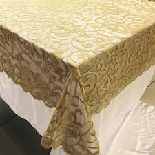 Christmas Table Cloths by Christmas Festival Polyester Lace Burgundy Divine Scroll Lace