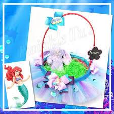 mermaid easter basket ariel the mermaid inspired tutu easter basket twinkle tu s