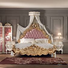 Wooden Carving Sofa Designs Double Bed Classic With Upholstered Headboard Solid Wood