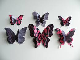 bedroom cute removable 3d butterflies wall craft decorations for bedroom black 3d butterfly wall stickers wall decor wall craft pink spot cute removable