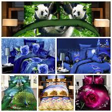 4pcs duvet cover sets 3d animal print bedding bed sheet pillowcase