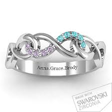 entwined infinity ring with accents infinity ring and