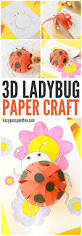 3d paper ladybug craft with template easy peasy and fun