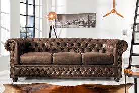 Sofa Chesterfield Hochwertiges Chesterfield Sofa 3 Sitzer Vintage Braun Echtes