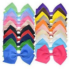 bulk ribbon 20 bulk ribbon hair bows for color 4 5 inch