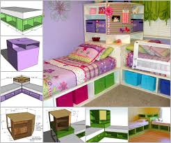 Twin White Bedroom Set - diy space saving corner twin beds set diycraftsguru