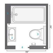 Smallest Bathroom Floor Plan Bathroom Layouts That Work Fine Homebuilding Article Small