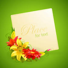 free vector flower greeting cards 02 vector vectores pinterest