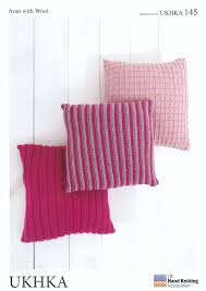 Knitted Cushion Cover Patterns Ukhka 145 Aran Knitting Pattern Cushion Covers Jpg