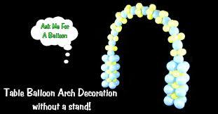 balloon arch for table balloon decoration tutorial youtube