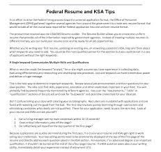 exle of resume format free federal resumer template and professional dreaded ksa sles