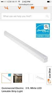 commercial electric 3ft led shop light commercial electric 3ft led strip light amazon com