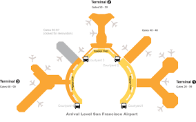 Map Of San Francisco Airport by San Francisco Airport Map Jetblue