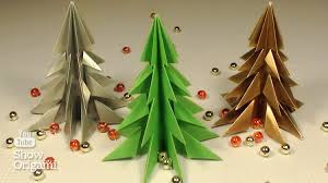 how to make a christmas tree out of paper without glue youtube
