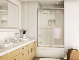 bathroom bypass sliding shower door for modern bathroom design