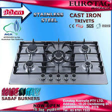 Gas Cooktop 90cm Eurotag 90cm S S 5 Burner Gas Cooktop With Heavy Duty Cast Iron