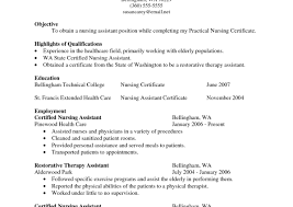 resume brilliant resume objective for a cna fabulous resume