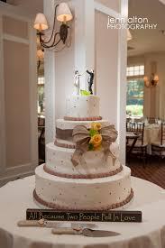 burlap cake toppers chantal aj pinehills golf club new wedding