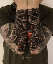 aztec duel arm piece best tattoo design ideas