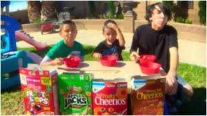 Challenge In Motion Cereal Challenge With Damian And Deion