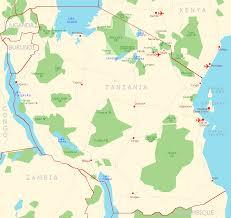 Tanzania Map Reisen Und Touren In Tansania Nationalparks Und Lodges