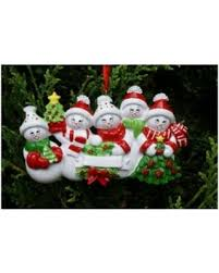 amazing deal on snow family 5 personalized ornament do