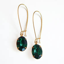 emerald green earrings emerald green oval earrings jpg