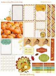 thanksgiving today happy planner sticker sampler