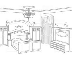 bedroom furniture bed room sketch of interior graphical interior