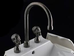 Skull Bathroom Accessories by Artistic Bathroom Fixtures Create Wow Effect